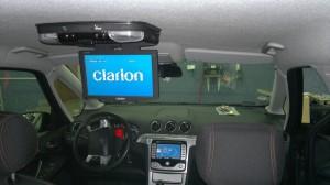 Ford Galaxy - montaż monitora sufitowego